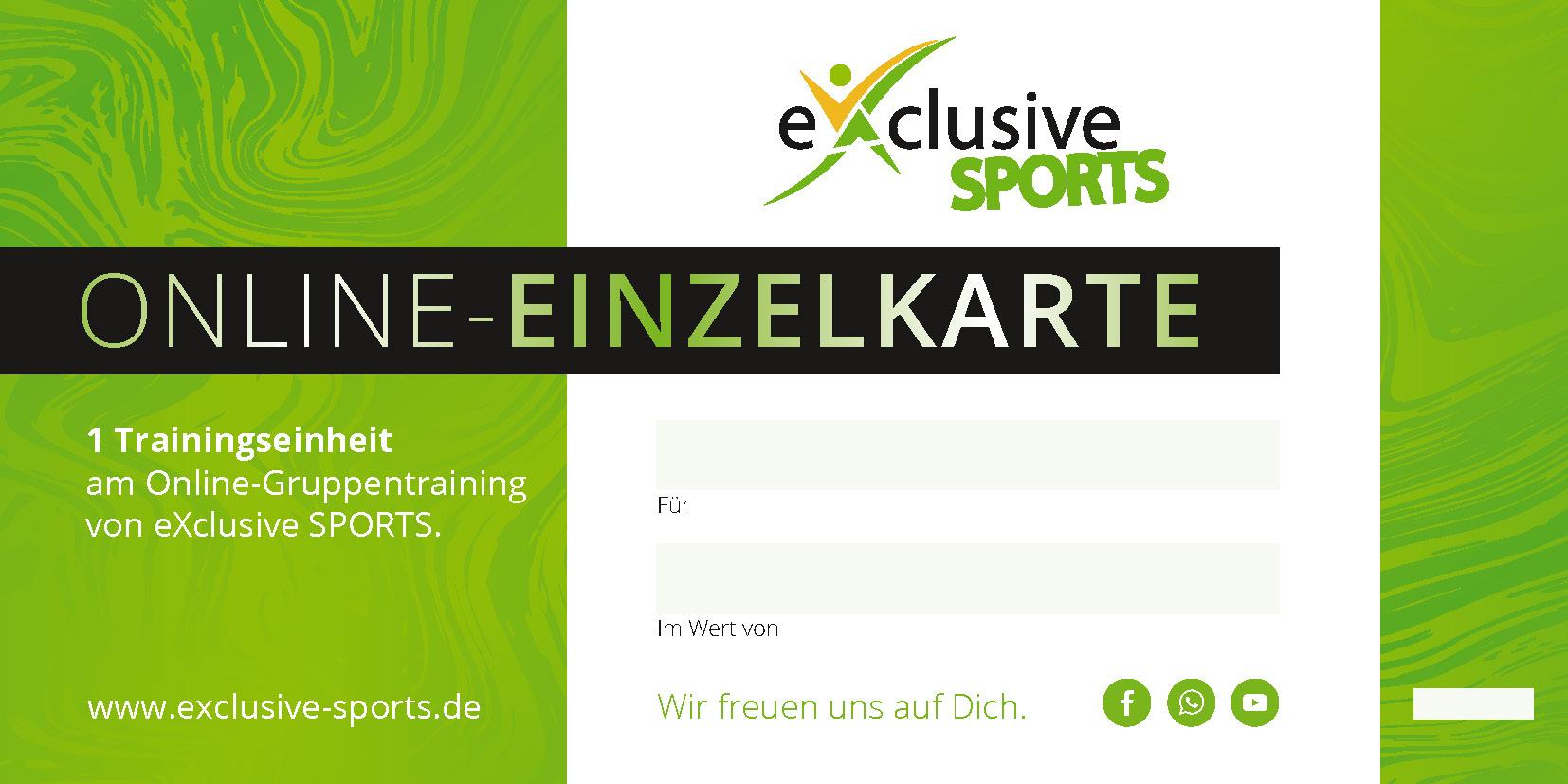 Gutschein_Online Einzelkarte